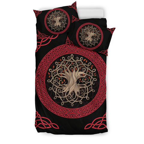 Image of Celtic Tree Red - Bedding Set