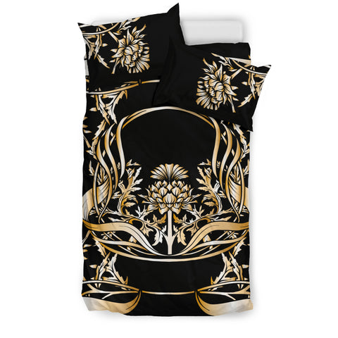 Image of Golden Thistle Bedding Set | Love Scotland