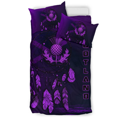 Scotland Thistle Dreamcatcher Bedding Set Purple Version | Bedroom Decor | Love Scotland