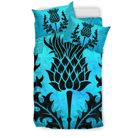 Scottish Thistle Turquoise Bedding Set | Bedroom Decor | Love Scotland