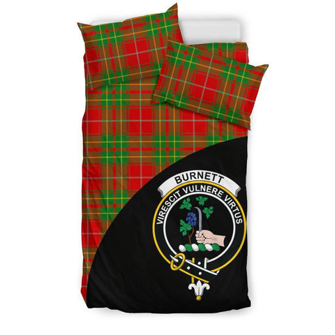 Tartan Bedding Set, Burnett Ancient Wave Style Scottish Printed Bedding Set A9