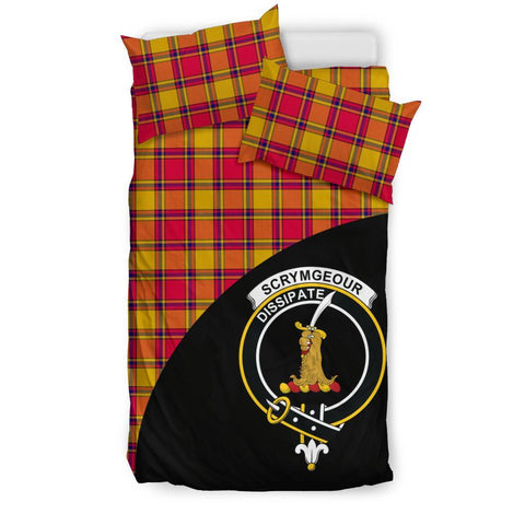 Tartan Bedding Set, Scrymgeour Wave Style Scottish Printed Bedding Set A9