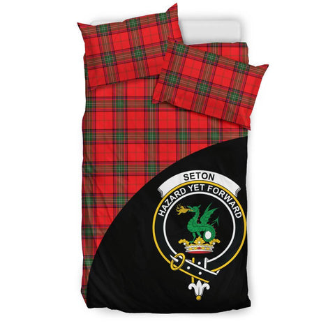 Tartan Bedding Set, Seton Modern Wave Style Scottish Printed Bedding Set A9