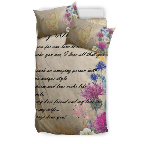 Scotland Bedding Set - Valentine To My Wife Thistle A24