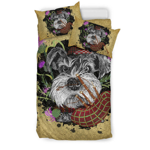 Scotland Bedding Set - Scottish Terrier And Thistle Vintage | Love The World