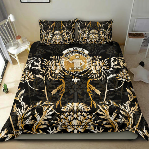 Image of Allardice Bedding Set - Gold Scottish Thistle | Over 300 Clans | Home Set