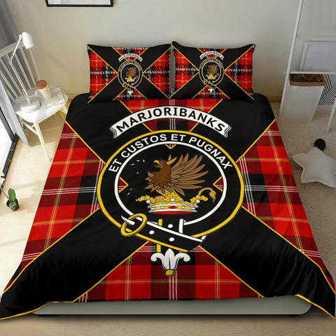 Tartan Bedding Set, Marjoribanks Luxury Style Scottish Printed Bedding Set A9