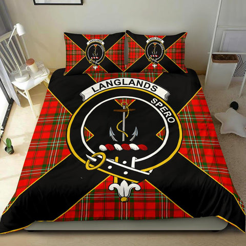 Tartan Bedding Set, Langlands Luxury Style Scottish Printed Bedding Set A9