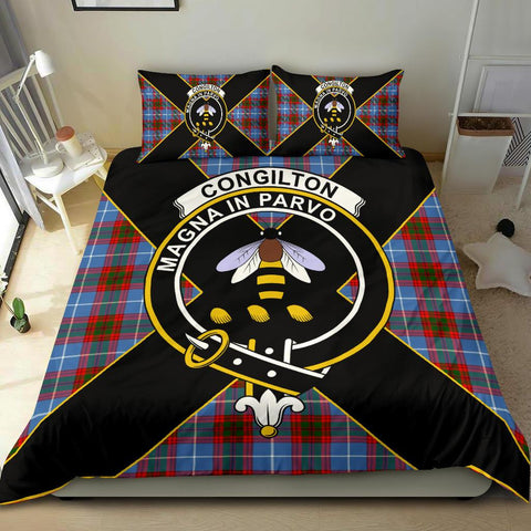 Tartan Bedding Set, Congilton Luxury Style Scottish Printed Bedding Set A9