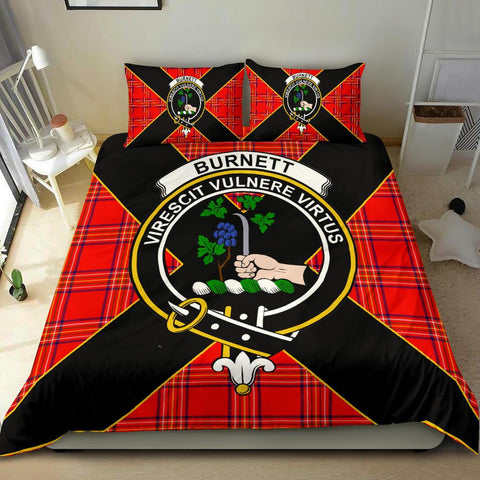 Tartan Bedding Set, Burnett Luxury Style Scottish Printed Bedding Set A9
