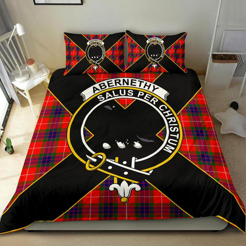 Tartan Bedding Set, Abernethy Luxury Style Scottish Printed Bedding Set A9