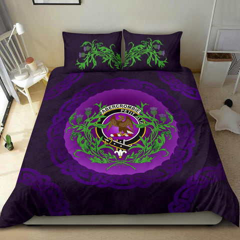 Abercrombie Crest Scottish Thistle Celtic Scotland Bedding Set | Love Scotland