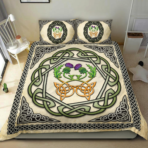 Image of Scotland Bedding Set - Celtic Thistle Vintage A24