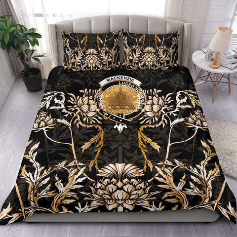 MacKenzie Bedding Set - Gold Scottish Thistle | Over 300 Clans | Home Set
