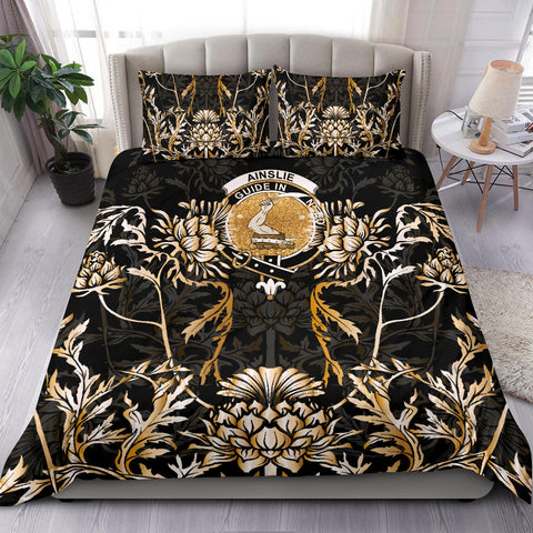 Ainslie Bedding Set - Gold Scottish Thistle | Over 300 Clans | Home Set