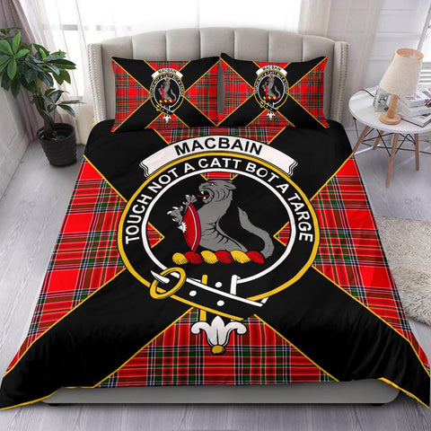 Tartan Bedding Set, MacBain Luxury Style Scottish Printed Bedding Set A9
