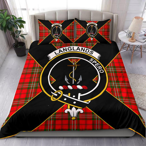 Image of Tartan Bedding Set, Langlands Luxury Style Scottish Printed Bedding Set A9