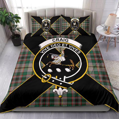 Tartan Bedding Set, Craig Luxury Style Scottish Printed Bedding Set A9