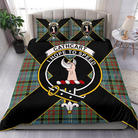 Tartan Bedding Set, Cathcart Luxury Style Scottish Printed Bedding Set A9