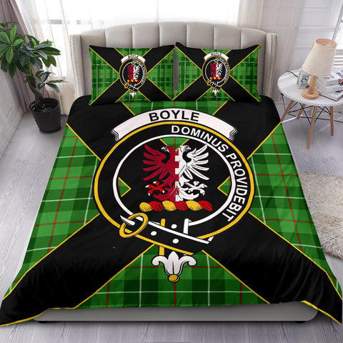 Tartan Bedding Set, Boyle Luxury Style Scottish Printed Bedding Set A9