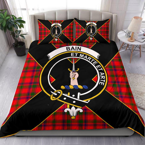 Tartan Bedding Set, Bain Luxury Style Scottish Printed Bedding Set A9