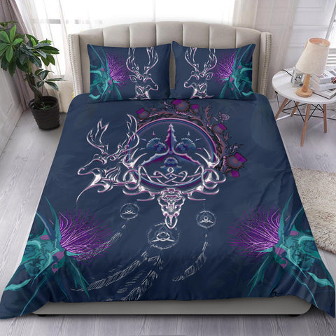 Scottish Bedding Set - Thistle Deer Celtic Dreamcatcher A18