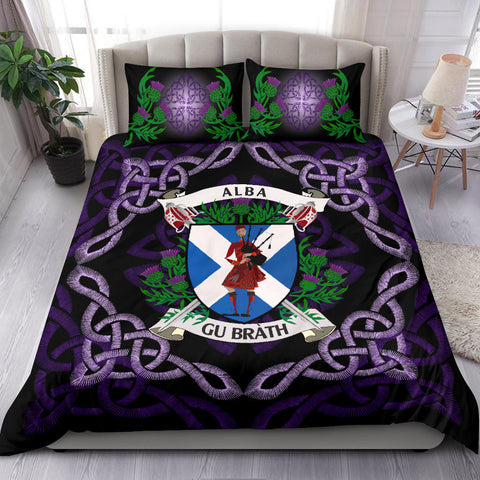 Scotland Bedding Set - Celtic Thistle Bagpiper A24