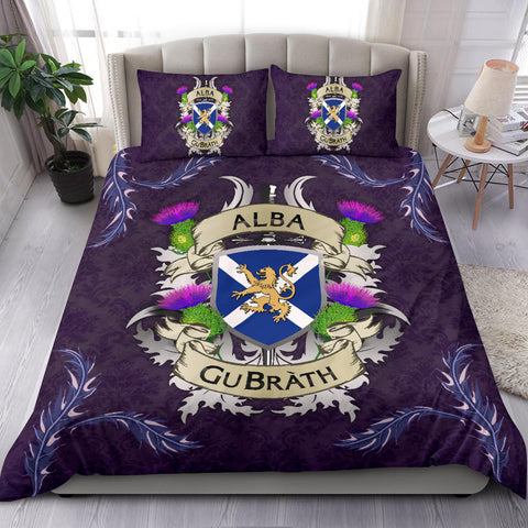 Scotland Bedding Set - Scotland Forever Flag Lion Thistle | Love Scotland