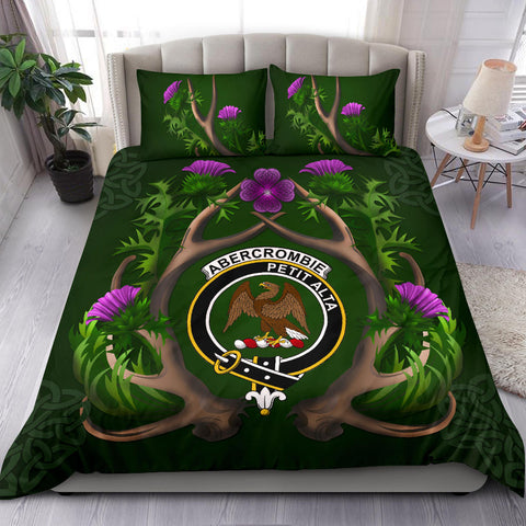 Abercrombie Crest Scottish Thistle Celtic Scotland Bedding Set | Love The World