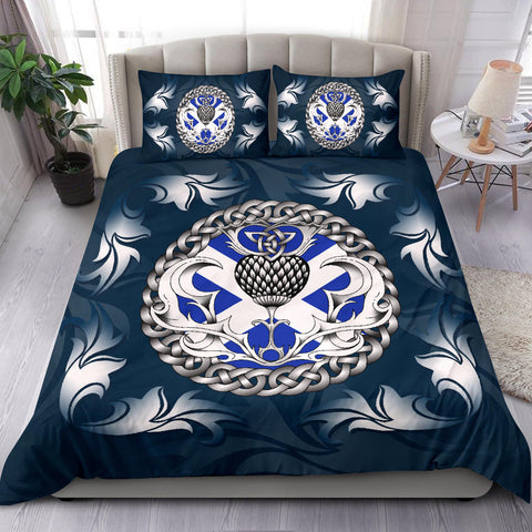 Scotland Bedding Set - Scottish Flag and Celtic Thistle - Blue A18