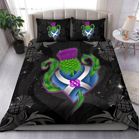 Scotland Bedding Set - Scottish Thistle and Flag A18
