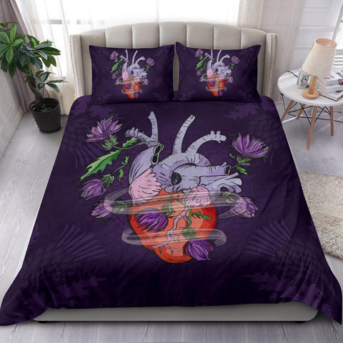 Image of Scotland Bedding Set - Scottish Heart Thistle A24