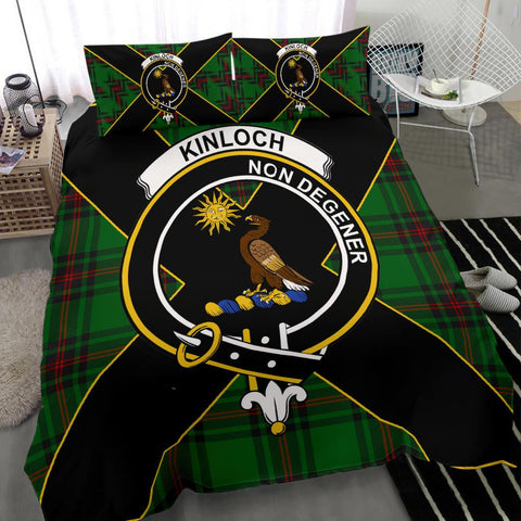 Image of Tartan Bedding Set, Kinloch Luxury Style Scottish Printed Bedding Set A9