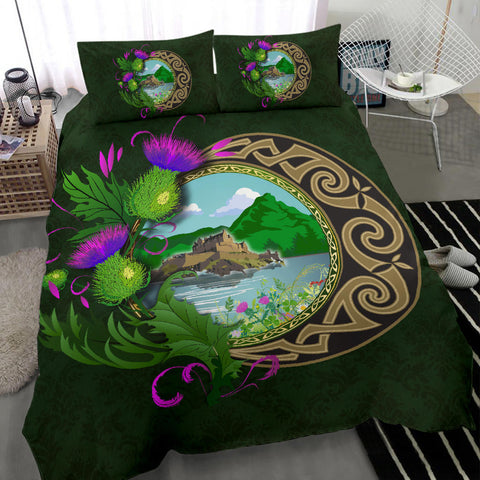 Scotland Bedding Set - Edinburgh Thistle Green A24