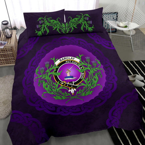 Barclay Crest Scottish Thistle Celtic Scotland Bedding Set | Love Scotland