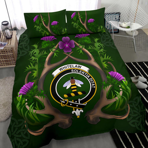 Whitelaw Crest Scottish Thistle Celtic Scotland Bedding Set | Love The World