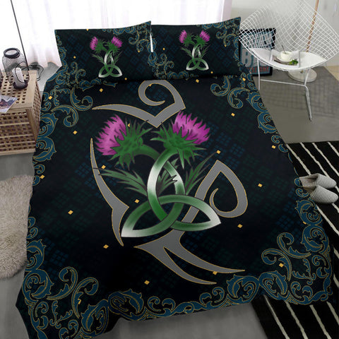 Scotland Bedding Set - Scottish Tribal Thistle Celtic A24