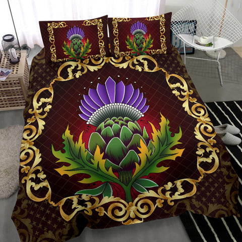 Image of Scotland Bedding Set - Thistle Special Gold A24