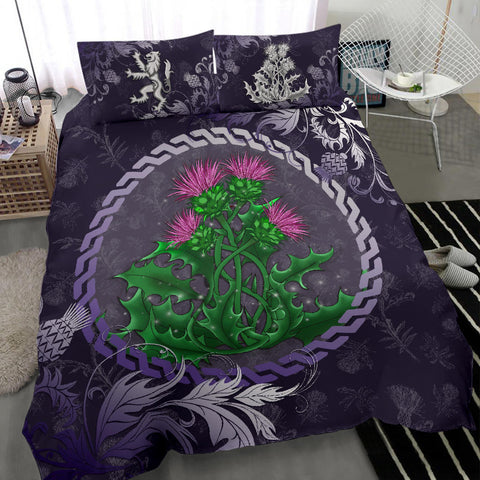 Scotland Bedding Set - Celtic and Thistle Purple | Love The World