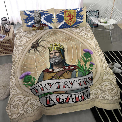 Image of Scotland Bedding Set - Robert The Bruce, King Of Scotland | 1stScotland