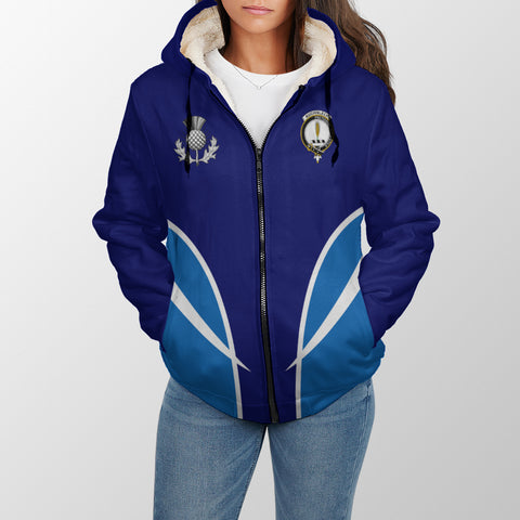 Auchinleck or Affleck Crest Sherpa Hoodie - Active A7