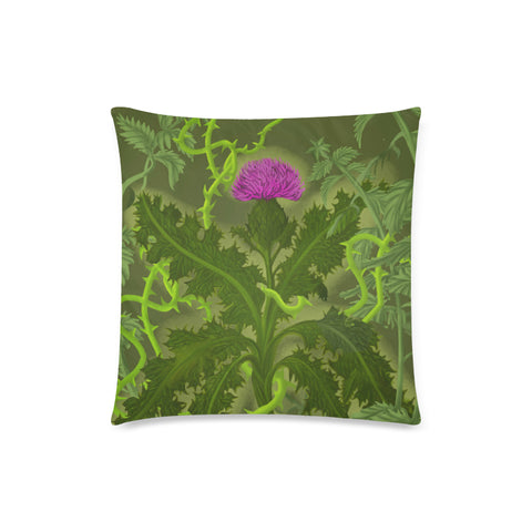Image of Scotland Pillow Case - Thistle Special Green | Love Scotland