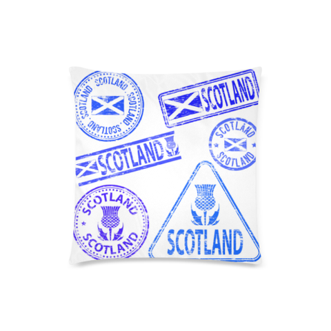 Travel Stamps 03 - Scotland Pillow Covers | Special Custom Design
