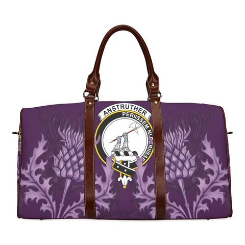Image of Anstruther Crest Scottish Thistle Scotland Travel Bag | Over 300 Clans