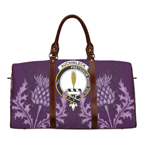 Image of Auchinleck or Affleck Crest Scottish Thistle Scotland Travel Bag | Over 300 Clans