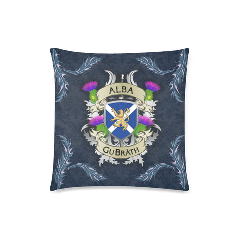 Image of Scotland Zippered Pillow Cases - Flag Lion Thistle (Alba GuBràth) A02