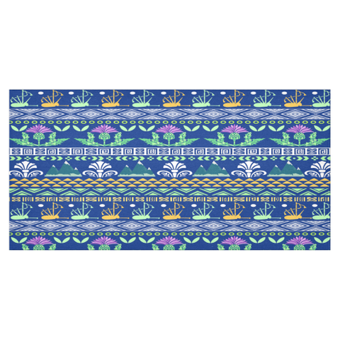 Scotland Blue Thistle Pattern - Tablecloth | Hot Sale | Love Scotland
