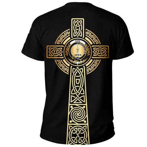 Bain T-shirt Celtic Tree Of Life Clan Black Unisex A91