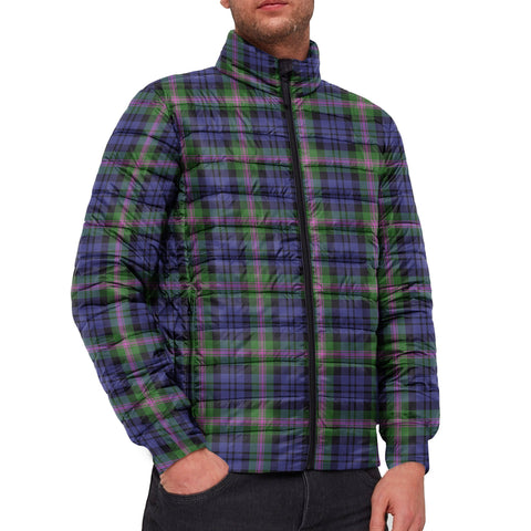 Tartan Padded Jacket -  Baird Modern Scottish Stand Collar Padded Jacket A7