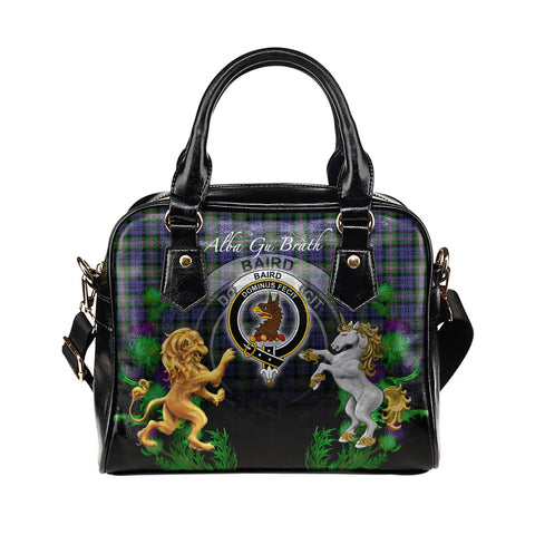 Baird Modern Crest Tartan Lion Unicorn Thistle Shoulder Handbag